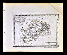 1841 Perrot France Map Departement - Haute Saone - Vesoul Gray Lure Seey Vitrey