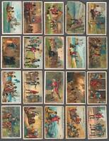 1926 ITC C51A Canadian History Series English Tobacco Cards Near Set of 39/50