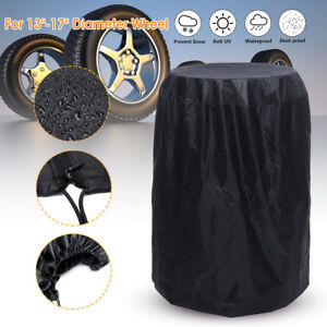 13-17'' Diameter Car Tire Storage Bag Protector Cover Holds 4 Wheels Black