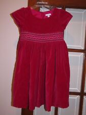 Charter Club girls size 6x Red velvet Christmas holiday dress with smocked front