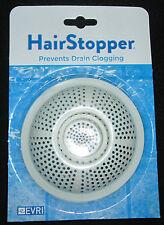 Hair Catcher Stopper Trap EVRI Flexible Best Shower Bath Drain NEW White FREE SH