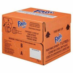 FANTA Bag in Box Postmix Syrup - 1x7 LITRE (see description)