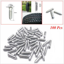 100 Pcs 25mm*6mm Car Truck Wheel Tire Studs Screws Snow Spikes Chains For Winter
