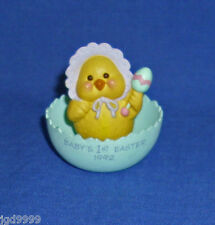 Hallmark Merry Miniature Baby's First 1st Easter 1992 Chick in Egg Used See Pics