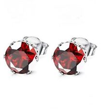 Stainless Steel CZ July Birthstone Polished Post Earrings