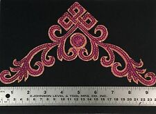Pink Sequin Iron On Sew On Motif Applique New