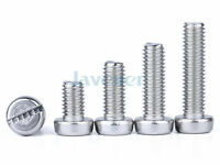 20pcs M3 Pitch 0.5mm 304 Stainless Slotted Cheese Head Machine Screws DIN84