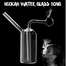 Clear Hookah Water Glass Bong Smoking Pipes Shisha Tobacco Smoke Bowl Bottle