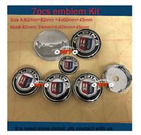 7pcs/set Car Emblem badge For Alpina 82mm/74mm+60mm+45mm 7PCS Alpina Size B