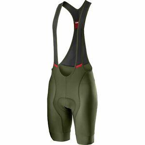 NEW 2021 Castelli COMPETIZIONE Cycling Bib Shorts, Military Green, Medium