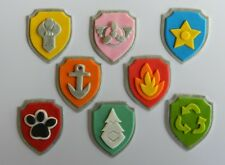 16 edible PAW PATROL LOGOS CUPCAKE cake topper DECORATION BADGE shield DOGS tv