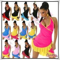 Sexy Women's Latin Mini Dress Ladies Summer Short Dress One Size 8,10,12,14 UK
