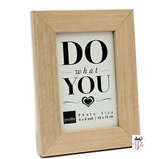 Timber 4 x 6 in (10 x 15 cm) Photo Frame Modern Decor Style New