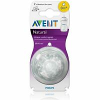 Philips Avent Natural Teat 0 Months+ - Newborn Flow - 2 Pack - Anti-Colic No BPA