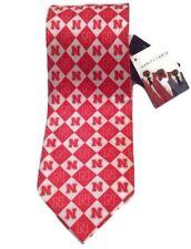 Nebraska Cornhuskers Men's Silk Neck Tie Red / White Diamond NWT NCAA College