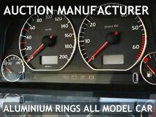 VW Golf III  mk3 1991-2002 Polished Aluminium Dial Surrounds Speedo Rings 4pcs