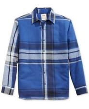 Levis Crumb Flannel Plaid Lined Shirt Jacket Blue Mens Size Small