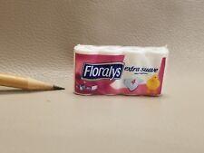T041 Dollhouse Miniature Toilet Tissue Paper Roll Floralys migros supermarket1:6