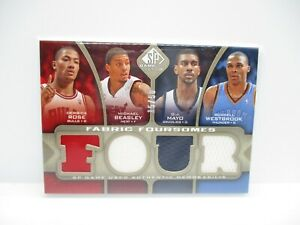 2009-10 SP Game Used Fabric Foursomes 50 #F4MBRW Beasley/Rose/Mayo/Westbrook