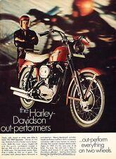 1969 Harley Davidson Sportster Motorcycle Bike Advertisement Print Art Ad J592