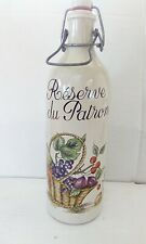 French vintage pottery wine flask