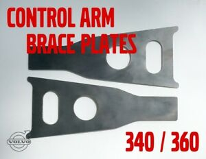 Volvo 343 340 360 front control arm weld-in reinforcing brace plates