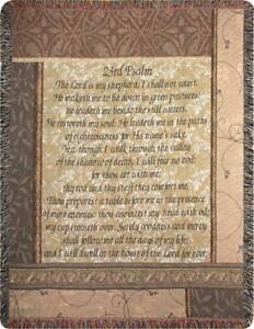23rd Psalm The Lord is My Shepherd Tapestry Afghan Throw