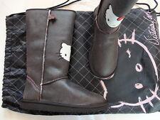 Bottes en croûte de cuir fourrées marron vieilli Victoria Couture 39 Neuves