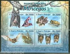 SAO TOME  2013  FAUNA OF AFRICA BATS  SHEET MINT NH