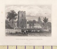 C1815 Antico Piccolo Georgiano Stampa ~ Birth-Place Bloomfield Honington Suffolk