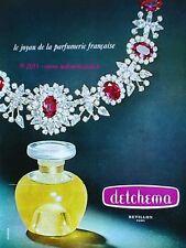 PUBLICITE PARFUM REVILLON DETCHEMA JOYAU 1967 FRENCH AD