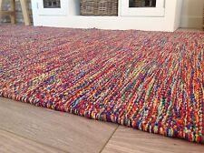 ❤️Multi Coloured Cotton Yarn Mottled Rug with Fringing 90cm x 150cm Flat Weave