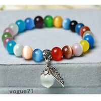 Cat's Eye Crystal Lap Glass Beads Charm Beaded Bracelet Jewelry For Girl Gift