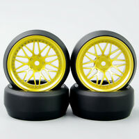 4pcs 1/10 RC Speed 0 Degree Hard Plastic Tyres Wheel Rim set For HPI Drift Car