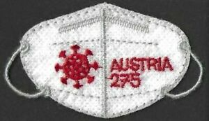 """2021 """"Austria"""" Corona Pandemic, Embroidered Stamp, PREORDER NOW! NEW!"""