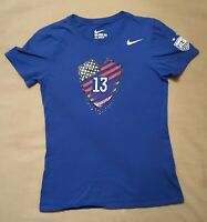 Alex Morgan #13 Nike Tee Shirt T-Shirt Small Womens US Soccer Olympics