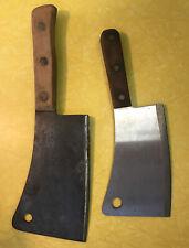 Vintage Meat Cleaver Lot (2) Chicago Cut / Briddell USA