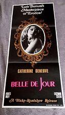 Belle De Jour AUSTRALIAN DAYBILL 13 x 30 CATHERINE DENEUVE Luis Bunuel  SOREL 67