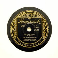 "5 DeMARCO SISTERS ""Dreamboat / Two Hearts Two Kisses"" BRUNSWICK 05425 [78 RPM]"