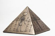 EGYPTIAN DEITIES GODS ANUBIS HORUS ISIS ANCIENT PYRAMID JEWELRY BOX FIGURINE