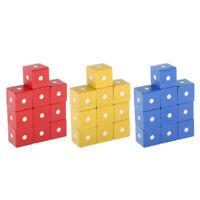 30 Stück Magnetwürfel Bunte Holzbausteine Holzspielzeug für Kinder