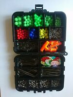 Sea Fishing Rig Making Kit With Compartment Box Beads Hooks Swivels Crimps Ect