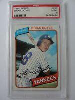 1980 Topps New York Yankees #582 BRIAN DOYLE PSA 9 Mint Baseball Card