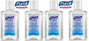 4 x 100ML PURELL Advanced 70% Rub Alcohol Hand Sanitiser Gel Flip Top Bottle