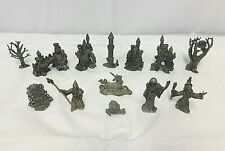 Pewter Wizard Dragon Castle Unicorn D&D Middle Earth Figures Lot of 13