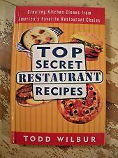 TOP SECRET RESTAURANT RECIPES Todd Wilbur 1997 HC Cookbook HC Very Good Clean
