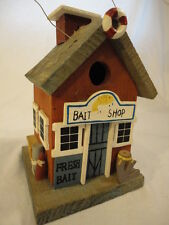 Small Wooden Fishing Bait Shop Decorative Birdhouse CH20