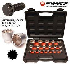 """Douilles SPLINE universelles 12 PANS 1/2"""" de 8 à 32 mm de 5/16"""" à 1-1/4"""" FORSAGE"""
