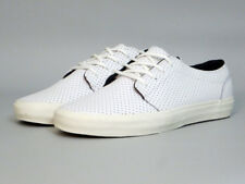 Vans 106 Vulcanized CA Leather Micro Perf WHITE Men's Size 8.5 NEW!
