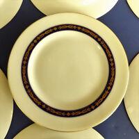 Vintage Theodore Haviland New York Dessert Plates Made in USA Set of 7 Blue Gold